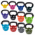 Body Solid Extra 5-50lb Vinyl Coated Kettle Bell Set