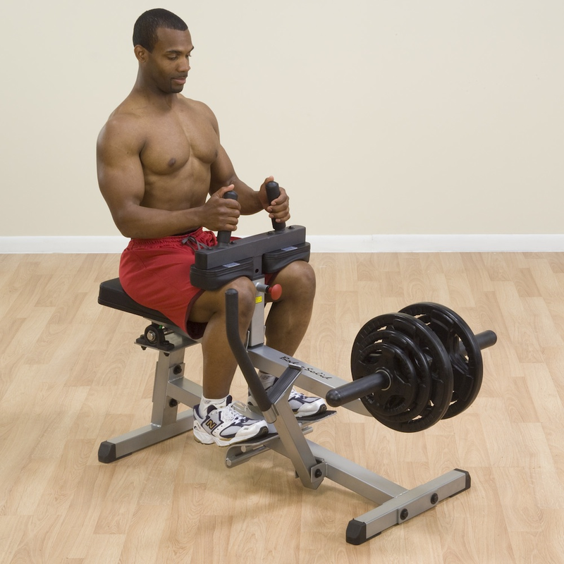 solid seated calf machine