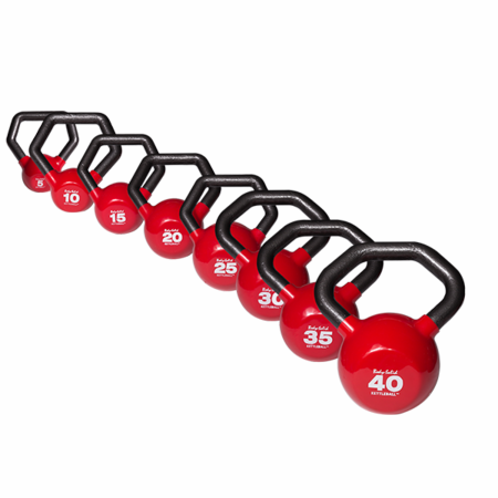 Body Solid KBLS180 5-40lb Vinyl Kettle Bell Set