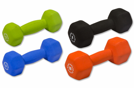Body Solid Neoprene Dumbbells 3,5,8,10lb Set