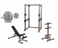 Body Solid Power Rack Gym Package