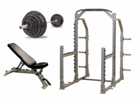 Body Solid Premium Power Rack Gym Package