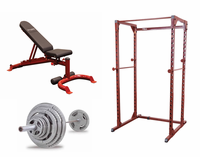 Body Solid Red Power Rack Package