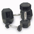 Body Solid Rubber Coated Hex Dumbbells 5-50lb Set