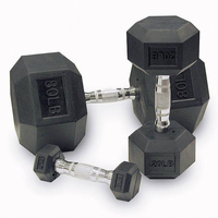 Body Solid Rubber Coated Hex Dumbbells 5-50lb Set $999.00