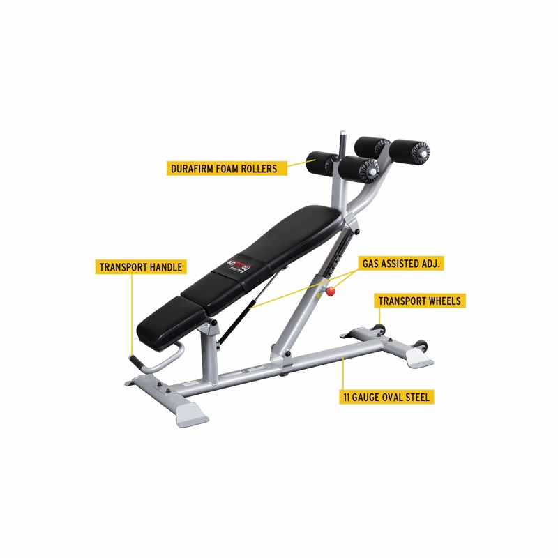 Body solid sab500 pro clubline adjustable ab bench Abs bench