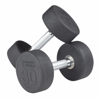 Body Solid SDP Round Rubber Encased Dumbbells 5-30lb Set $669.99