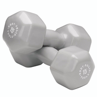 Body Solid Vinyl Dumbbell Set 3,5,8,10,12 & 15lb $249.99