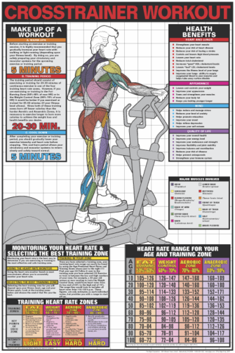 Crosstrainer Workout Poster - Laminated