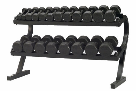 Deluxe Dumbbell Rack W/ 5-50lb. Steel VTX Dumbbells