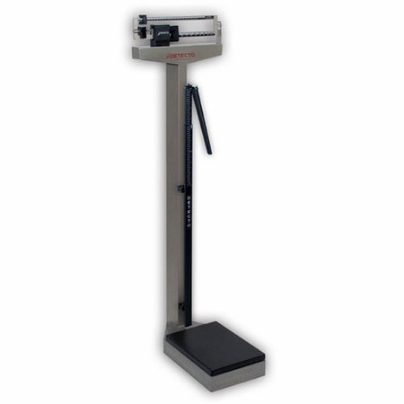 Detecto 439S Stainless Steel Scale W/Height Rod