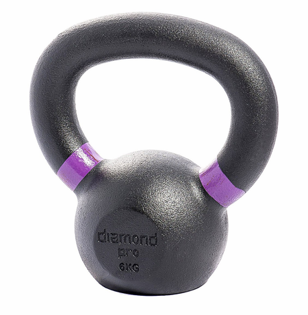 Diamond Pro 6kg (13lb) Iron Kettle Bell
