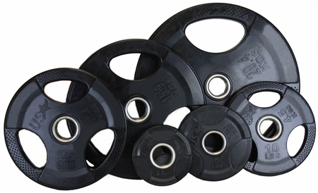 Economy Rubber Encased Olympic Weight Set - 455lbs