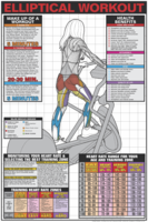 Elliptical Workout Poster - Laminated $29.99