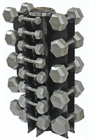 Hex Dumbbells 3-50lb Set W/Vertical Dumbbell Rack $1,019.00