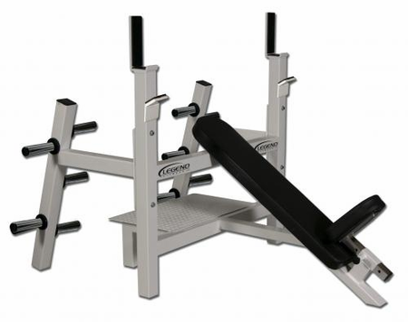 Legend Fitness Olympic Incline Bench W/ Plate Storage 3154