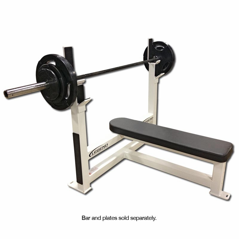 Legend fitness flat olympic weight bench 3105 Weight bench and weights