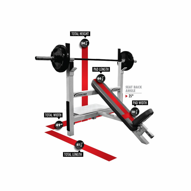 Legend Fitness Incline Olympic Weight Bench 3106
