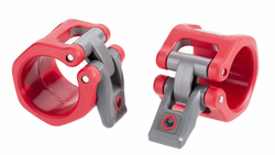 Lock Jaw Hex 2 inch Olympic Collars - Red $34.99