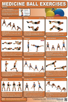 Medicine Ball Exercise Poster $29.99