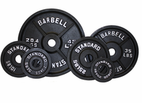 Olympic Weight Plate Set Black - 255lbs $459.99