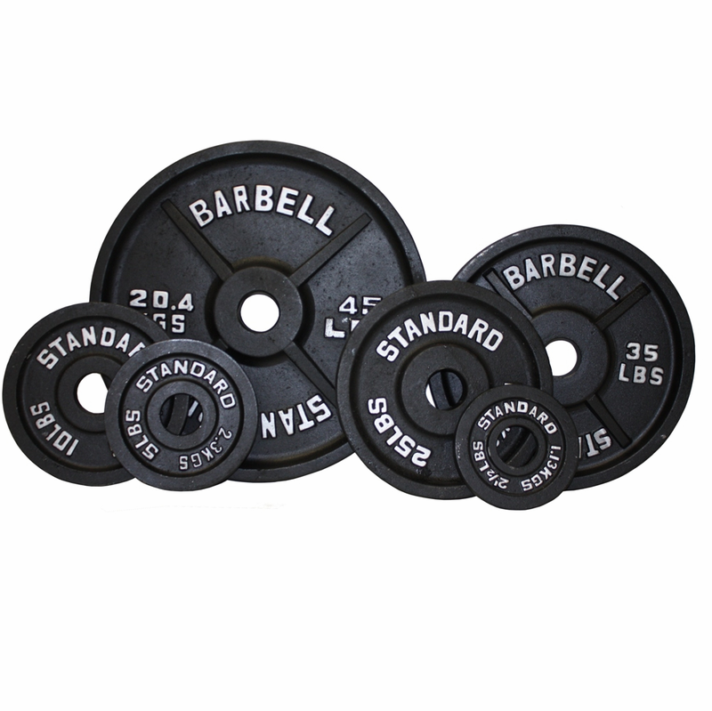 sc 1 st  Fitness Giant & Olympic Weight Plate Set Black - 255lbs