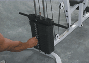 Optional 150 Lb Weight Stack