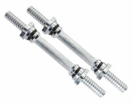 "Regular 14"" Solid Threaded Dumbbell  Handles - Pair"