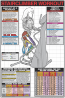 Stairclimber Workout Poster - Laminated $29.99