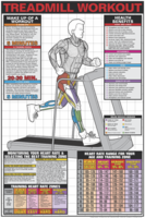 Treadmill Workout Poster - Laminated $29.99