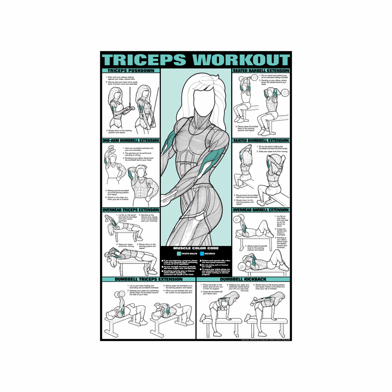 Tricep Workout Poster