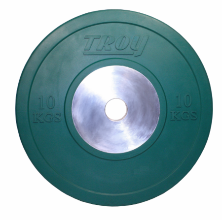 Troy 10kg Competition Bumper Plates - Pair