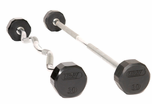 Troy 12 Sided Rubber Encased Solid Barbells
