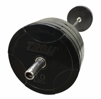 Troy 275lb Rubber Bumper Plate Set W/1500lb Test Bar $899.99