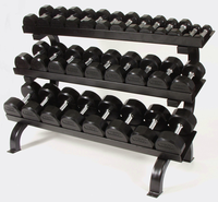 Troy 5-75lb Dumbbell Set W/3 Tier Shelf Rack $3,399.00