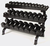 Troy 5-75lb Dumbbell Set W/3 Tier Shelf Rack