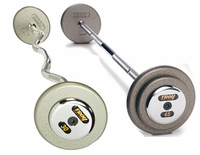 Troy Gray Barbell Sets W/Chrome Endcaps