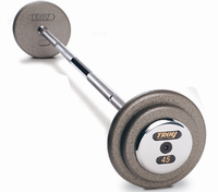 Troy Gray Pro Style Barbells - Chrome Cap (25lb - 115lb Set) $1,849.00