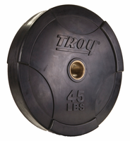 Troy Interlocking Rubber Bumper Plates - 45lb (Pair) $219.99