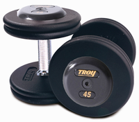 Troy Pro Style Dumbbell Sets Black W/Black End Caps $0.00