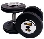 Troy Pro Style Dumbbell Sets  Black W/Chrome End Caps