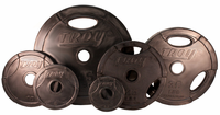 Troy Rubber Coated Olympic Weight Plates - 455lbs $989.99