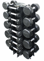 Troy Rubber Encased 3-50lb Dumbbell Set W/Rack
