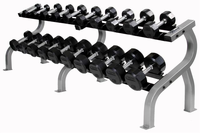 Troy Rubber Encased Dumbbells 5-50lb Set W/ Pro Style Rack $2,059.00