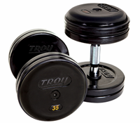 Troy Rubber Encased Pro Style Dumbbells 5 - 100lb Set $5,599.00
