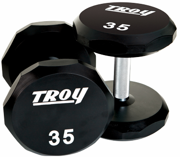 Troy Urethane 12 Sided Dumbbells 80-100lb Set