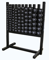 Troy VTX Aerobic Neoprene Dumbbell Set W/ Rack