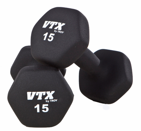 Troy VTX Neoprene Dumbbells   1lb-15lb Set