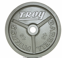 Troy Wide Flanged Gray Olympic Weight Set $569.99