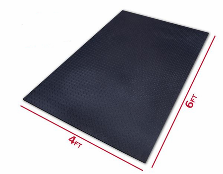 Ultra Thick Gym Mat - 4 foot x 6 foot x 1/2 inch